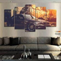 Quadros Decorativos Carros Bmw 63x130cm em Tecido