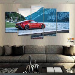 Quadros Decorativos Carro Vermelho Hd 63x130cm em Tecido