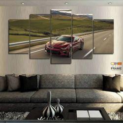Quadros Decorativos Carro Camaro Ss 63x130 cm em Tecido