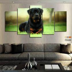Quadros Decorativos Cachorro Rottweile 63x130 cm em Tecido