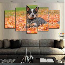 Quadros Decorativos Cachorro Outono 63x130 cm em Tecido