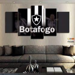 Quadros Decorativos Botafogo 63x130 cm em Tecido