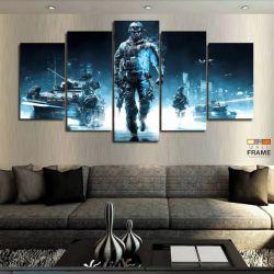 Quadros Decorativos Battlefield 67x130 cm em Tecido