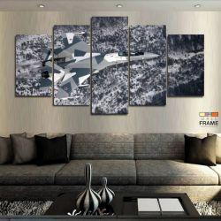 Quadros Decorativos Avião Caça 63x130 cm em Tecido