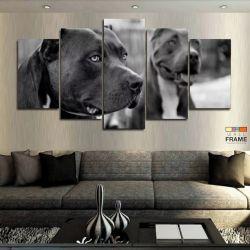 Quadros Decorativos 2 Pitbull 63x130 cm em Tecido