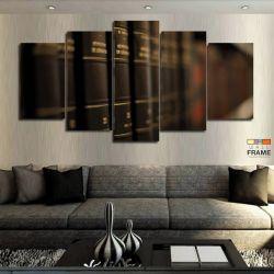 Quadro Decorativo Direito Livros 63x130 cm em Tecido