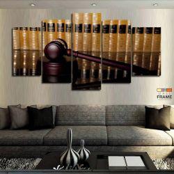 Quadro Decorativo Direito Juiz 63x130 cm em Tecido
