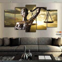 Quadro Decorativo Direito Balança 63x130 cm em Tecido