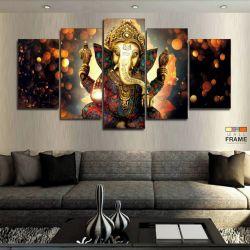 Quadros Decorativos Lord Ganesha 63x130em Tecido