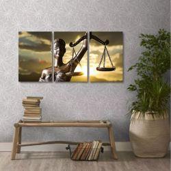 Quadro Direito Advocacia Decorativo Em Tecido 3 Peças