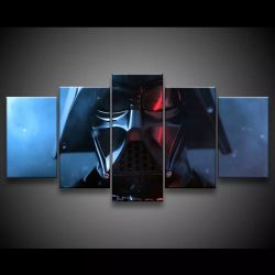 Quadro Decorativo 129x63 Sala Quarto Star Wars Darth Vader 1