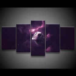 Quadro Decorativo 129x63 Sala Quarto Star Wars Death Star 1