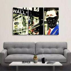 Quadro Decorativo Lobo Wall Street Abstrato Em Tecido