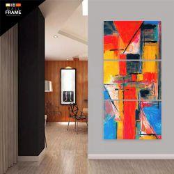 Quadro Decorativo Pintura Abstrato Em Tecido 120 x 60 para Hall de Entrada