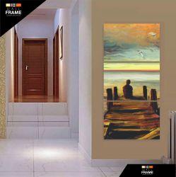 Quadro Decorativo Pintura Solitário Em Tecido 120 x 60 para Hall de Entrada