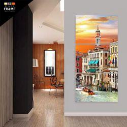 Quadro Decorativo Veneza Antiga Vertical 120x60 Hall para Hall de Entrada