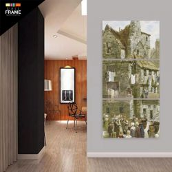 Quadro Decorativo Vertical Casa Para Sala Hall 3 Peças para Hall de Entrada