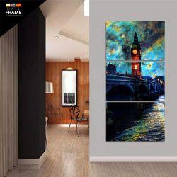 Quadro Decorativo Torre Vertical Para Sala 120x60 em Tecido para Hall de Entrada