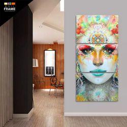Quadro Ganesha Mosaico 3 Peças Sala Hall Decorativo para Hall de Entrada