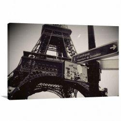Quadro Decorativo Vintage - Paris Retrô - Tela em Tecido