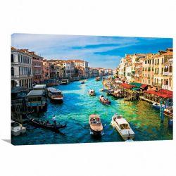 Quadro Decorativo Cidade Veneza na Itália - Tela em Tecido