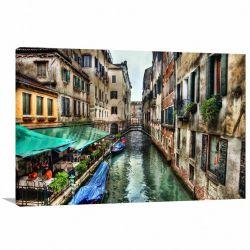 Quadro Decorativo Paisagem de Veneza Itália - Tela em Tecido