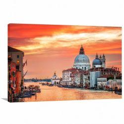 Quadro Decorativo - Paisagem Cidade de Veneza - Tela em Tecido
