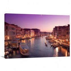 Quadro Decorativo Paisagem Itália Veneza - Tela em Tecido
