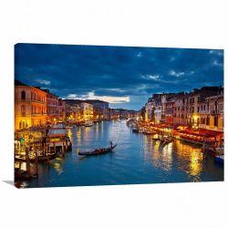 Quadro Decorativo - Veneza na Itália - Tela em Tecido