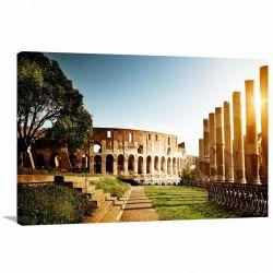 Quadro Decorativo - Rome - Paisagem - Tela em Tecido