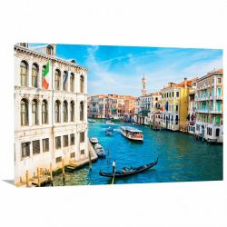 Quadro Decorativo Cidade de Veneza Paisagem - Tela em Tecido