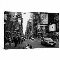 Quadro decorativo New York Retrô - Vintage - Tela em Tecido