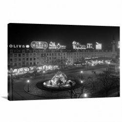 Quadro Decorativo - Cidade Retrô - Vintage - Tela em Tecido