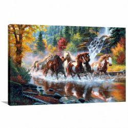 Quadro decorativo Cavalos na Natureza Art