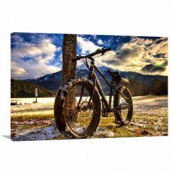 Quadro decorativo Montain Bike com Tela em Tecido
