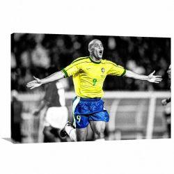 Quadro decorativo Ronaldo Fenômeno com Tela de Tecido
