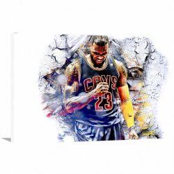 Quadro LeBron James decorativo Cavs - Tela em Tecido