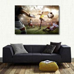 Quadro decorativo de Futebol com Tela em Tecido