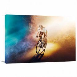 Quadro decorativo Bicileta Jogos Olimpicos Tela em Tecido