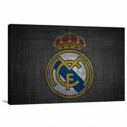 Quadro Real Madrid C F decorativo com Tela em Tecido