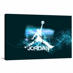 Quadro decorativo Michael Jordan Basquete - Tela em Tecido