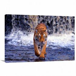 Quadro Tigre Paisagem decorativo Tela em Tecido