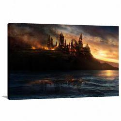 Quadro Harry Potter Hogwarts decorativo Tela em Tecido