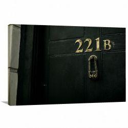 Quadro decorativo Sherlock Holmes 221-B Tela em Tecido