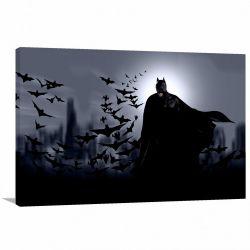 Quadro decorativo Batman Heróis Gotham com Tela em Tecido