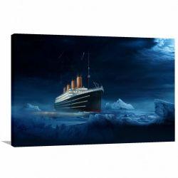 Quadro decorativo Titanic com Tela em Tecido