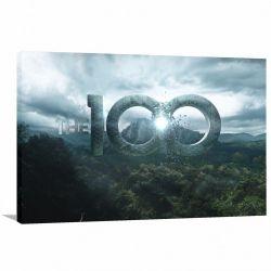Quadro decorativo The 100 Série Tela em Tecido