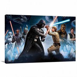 Quadro decorativo Star Wars com Tela em Tecido