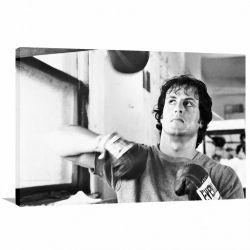 Quadro decorativo Rocky Balboa Retrô - - Tela em Tecido