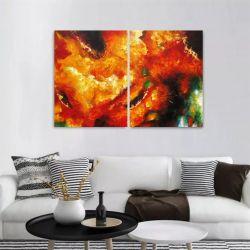 Quadro Decorativo Abstrato Moderno 2 peças 90x60 cm